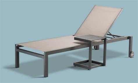 e lettino lettino in alluminio e textilene per centri benessere