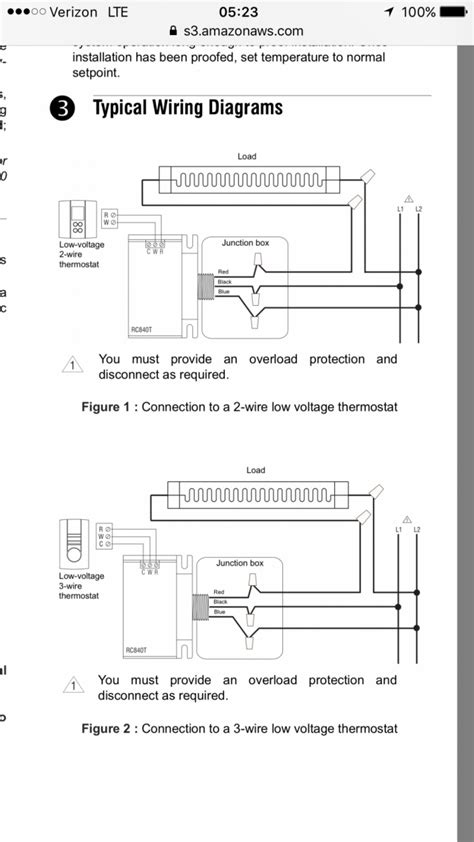 diagram wiring low voltage thermostat profusion electric