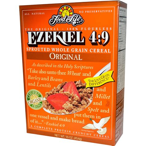 whole grains cereal food for ezekiel 4 9 sprouted whole grain cereal