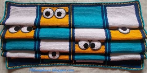 free crochet pattern minion crochet afghan square make free pattern everyone likes this minions blanket knit