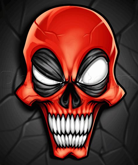 Ds4 Skin Deadpool By Stiker Onlen how to draw a deadpool skull step by step marvel