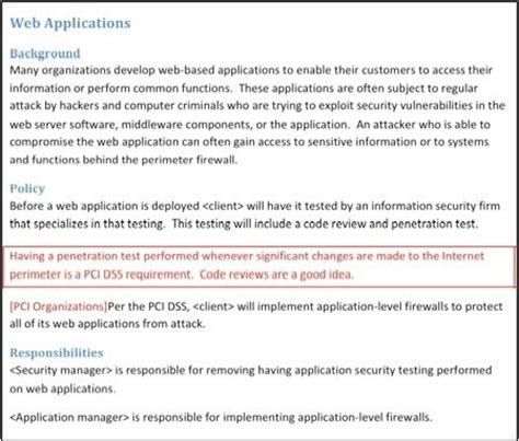 pci security policy template free pci dss news and information for higher education pci