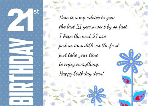 Birthday Cards 21 Years Popular 21st Birthday Wishes Messages For 21 Year Olds