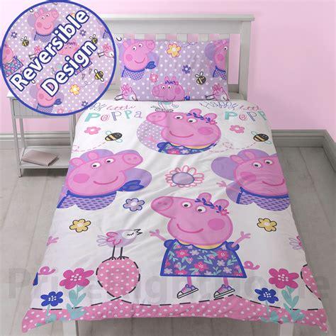 Peppa Pig Junior Bed Set Peppa Pig Duvet Cover Sets Junior Single Brand New Official Ebay