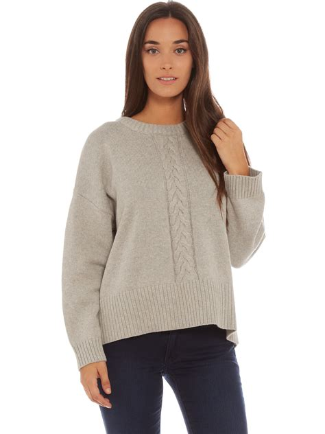oversized knitted sweaters abrand oversized cable knit sweater in grey