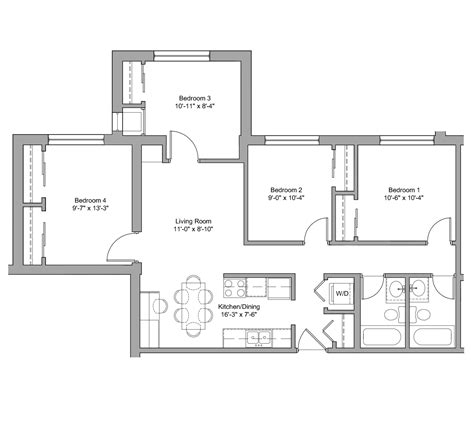 floor plan description d2 g the denn apartments