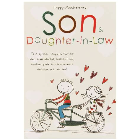 free printable anniversary cards for son and daughter in law paperlink tinklers son daughter in law temptation gifts
