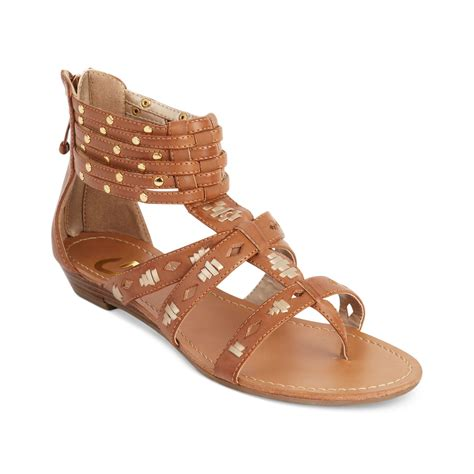 guess flat shoes g by guess womens shoes rippa flat sandals in brown maple
