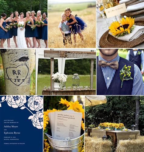 country blue and yellow the meaning of yellow and blue wedding colors