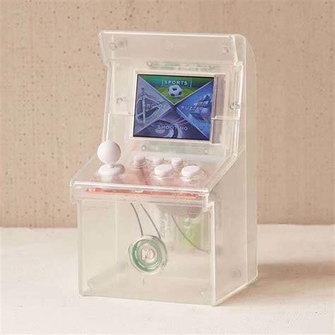 the clear mini arcade cabinet with 240 retro games gadgetsin