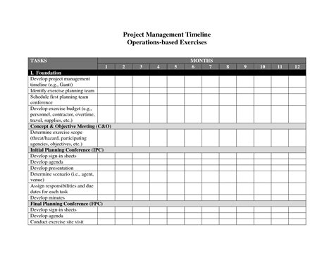 project template word 2010 best photos of project management timeline exles