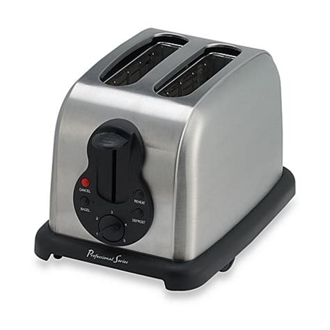 bed bath beyond toaster professional series stainless steel 2 slice toaster bed