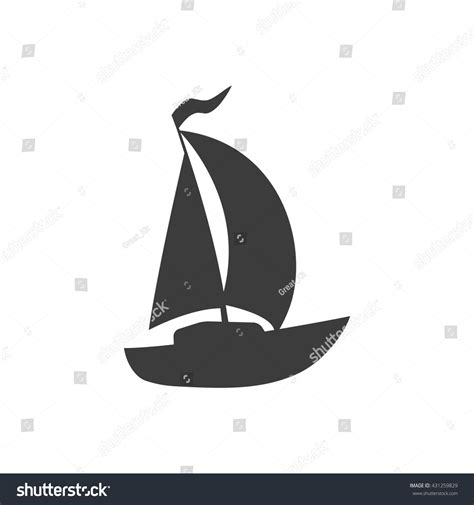 boat icon white boat icon boat vector isolated on stock vector 431259829