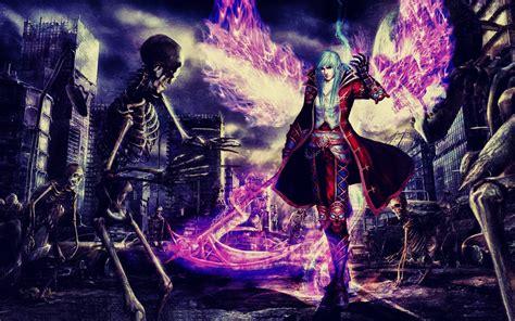 wallpaper anime magic man skeletons magic wings weapon braid anime wallpaper