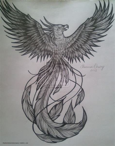 phoenix bird tattoo designs on tattoos and