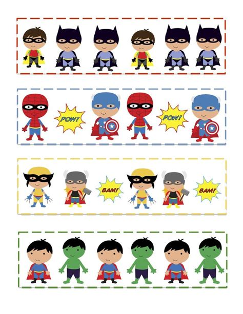 Pattern Game Ideas | superhero activities free preschool printables super hero