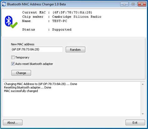 Bluetooth Address Finder Bluetooth Mac Address Changer Screenshot X 64 Bit