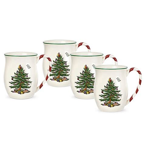 spode 174 tree handle mugs set of 4 bed bath beyond