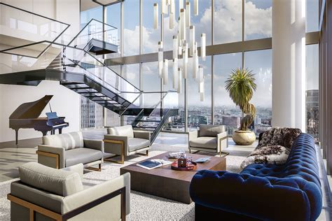 luxury apartment listings for the greater los angeles area one of the penthouses to be built in downtown los