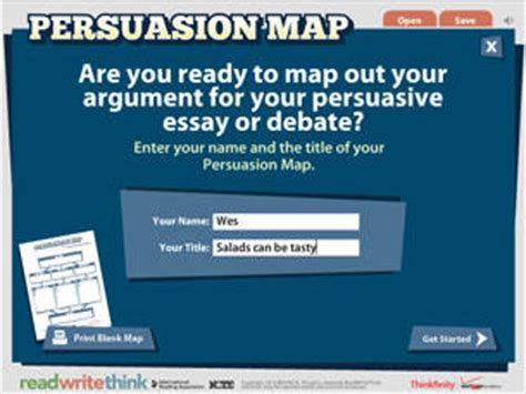 Persuasive Essay Graphic Organizer Read Write Think by Persuasion Map Readwritethink