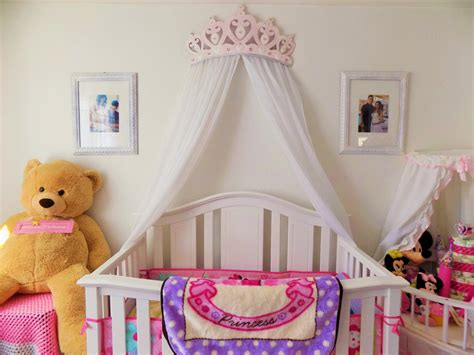 Princess Canopy Beds by Crib Canopy Bed Crown Pink Princess Wall Decor Etsy