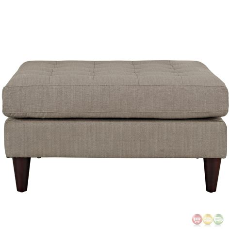 Tufted Accent Bench Empress Modern Upholstered Square Bench With Button Tufted