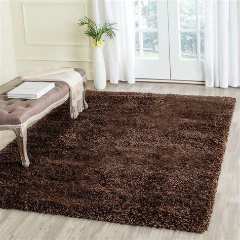4 ft rug safavieh california shag brown 4 ft x 4 ft square area