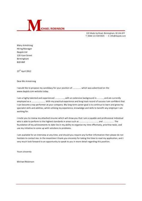 cover letter exles template sles covering letters