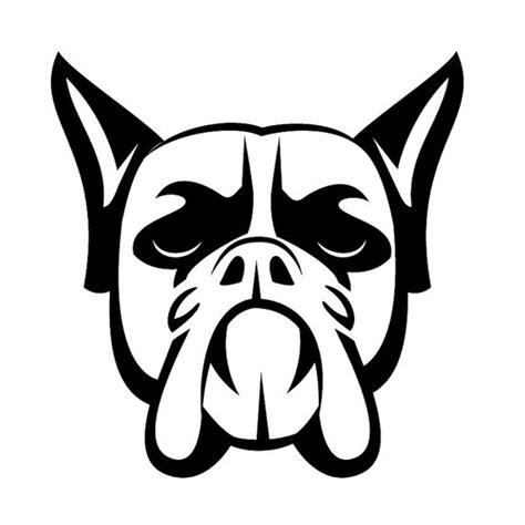 articoli simili a boxer cane faccia disegno del