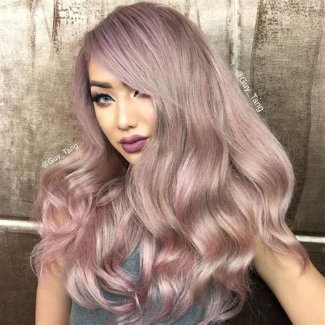 dusty hair color hair color silver dusty pink hair nycdragun by guy tang