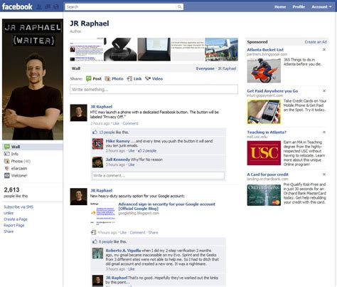 fb page facebook s new pages a hands on tour pcworld