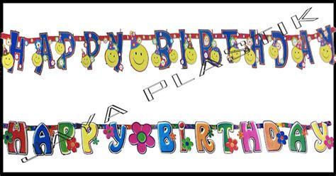 Banner Happy Birthday Banner Ulang Tahun Motif Baju Anak happy birthday huruf perlengkapan ulang tahun