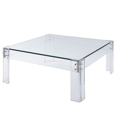 rg the shop library acrylic table coffee table