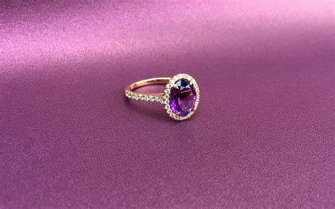 purple amethyst engagement ring shapiro diamonds