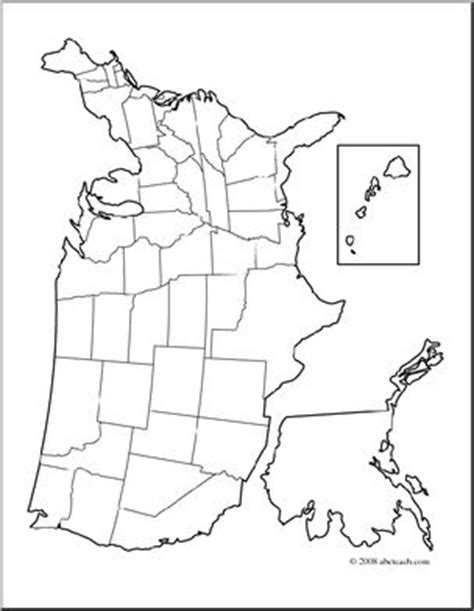 united states unlabeled map clip united states map coloring page blank i