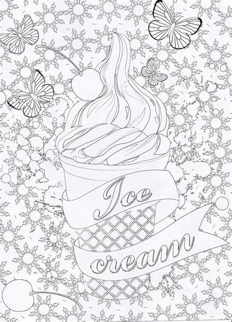 ice cream coloring pages for adults 17 best images about coloriage gourmandise on pinterest
