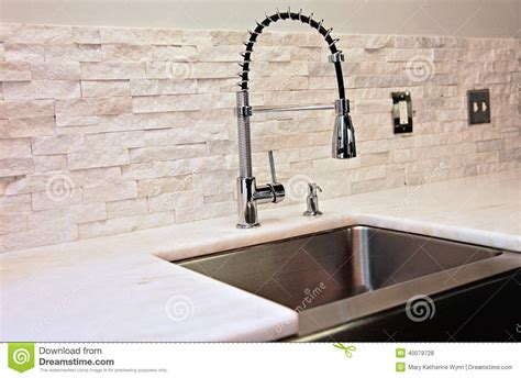 Faucet Sink Kitchen modern kitchen detail stock photo image 40079728