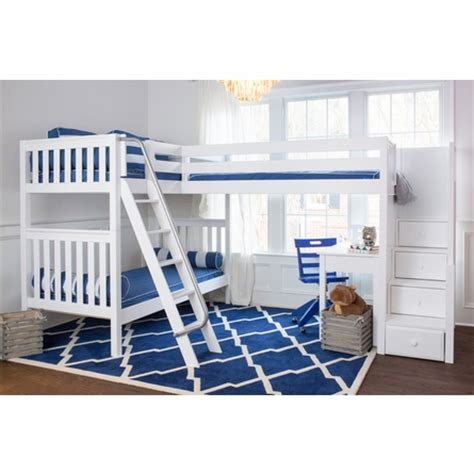 Corner Bunk Bed Plans Triology Corner Loft Bunk Bed With Staircase