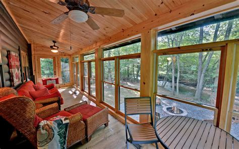 Trout Run Cabin by Trout Run Cabin Blue Ridge Ga Small 015 Sun Porch 666x417