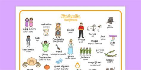 Tale Word Mat by Cinderella Word Mat Translation