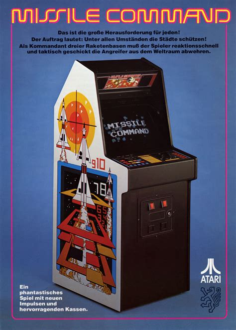 Cabinets By Design the arcade flyer archive video game flyers missile