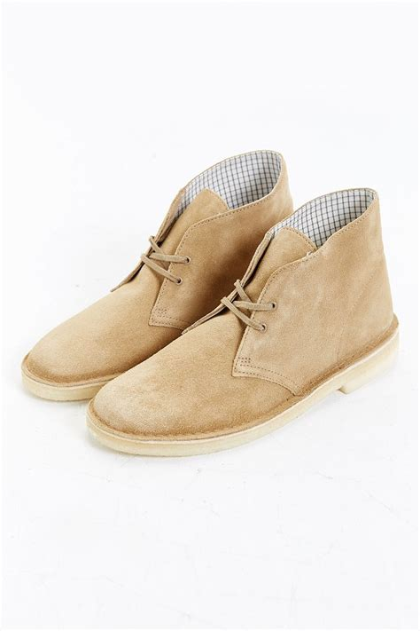 clarks suede desert boot in for lyst