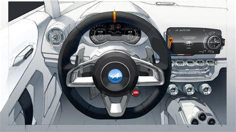 renault alpine concept interior alpine vision concept interior design sketch render car
