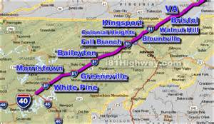 Route 81 Map by I 81 Tennessee Traffic Map