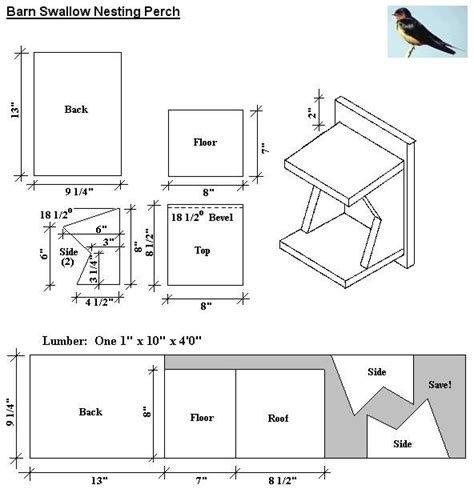 swallow house plans barn swallow nesting perch plans for the love of birds my back yard pinterest