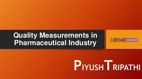 Mba In Pharmaceutical Management Rutgers Linkedin by Quality Metrics In Pharmaceuticals