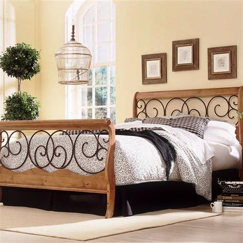 wood and metal headboards dunhill wood iron headboard autumnbrown honey oak finish