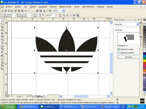 tutorial logo adidas coreldraw diseo de logo diseo grafico curso corel draw 14 video