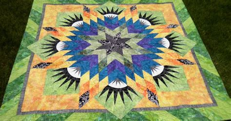 quilt pattern radiant star quilts by barb news from barb a radiant star with a