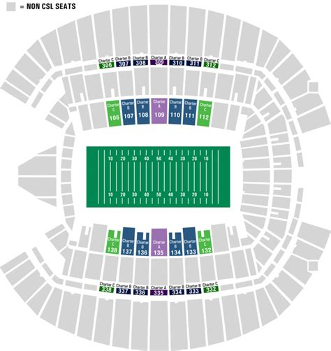 seahawks seating chart with rows official seattle seahawks csls charter seat licenses buy
